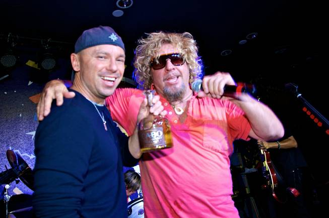 Kenny Chesney and Sammy Hagar at Sammy's grand opening of ...