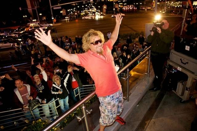 Sammy Hagar's grand opening of Cabo Wabo Cantina at Planet ...