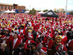 The 2009 Great Santa Run at Town Square on Dec. 5, 2009.