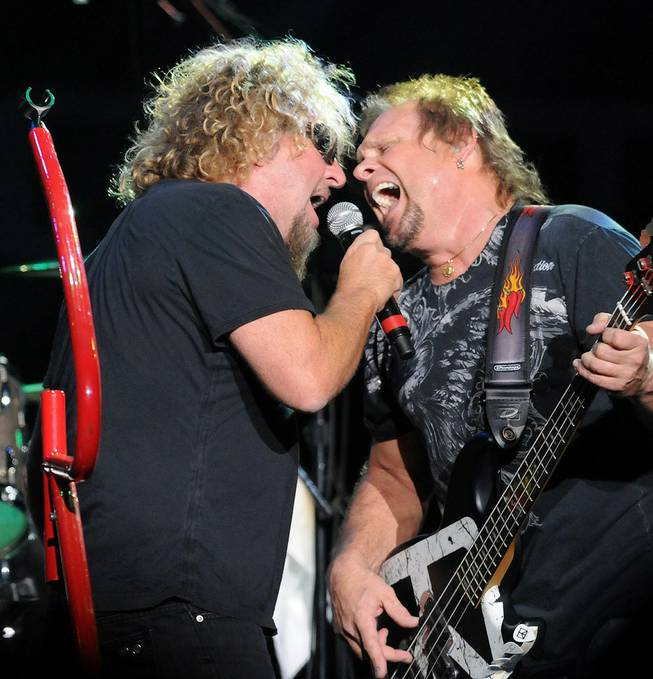 Chickenfoot -- singer Sammy Hagar, Red Hot Chili Peppers drummer Chad Smith, guitar legend Joe Satriani and bassist Michael Anthony -- perform at The Joint in the Hard Rock Hotel on Dec. 5, 2009.