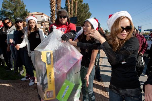 XS, Tryst and Drai's After Hours take part in the 2009 KLUC 98.5 FM Toy Drive at Wal-Mart and Nevada Power on Dec. 9, 2009.
