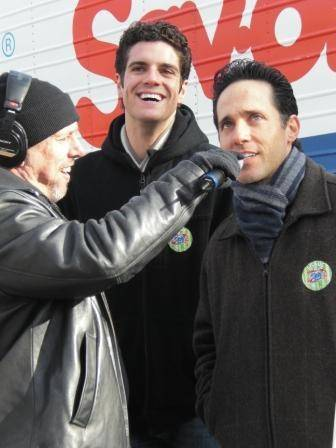 Spence of the Morning Zoo with Peter Saide and Jeff Leibow of Jersey Boys.