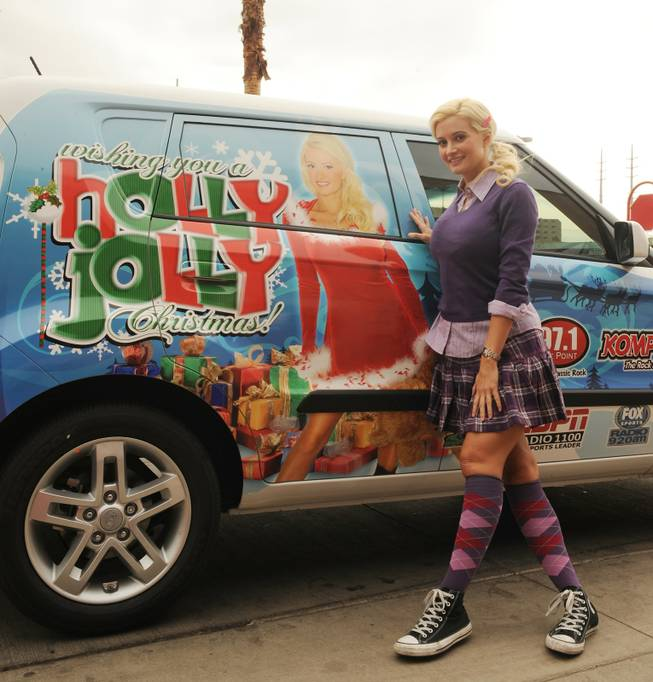 Holly Madison shops for toys in support of her Holly Jolly Christmas Toy Drive with Lotus Broadcasting in Las Vegas to benefit Toys for Tots and The Salvation Army on Dec. 11, 2009.