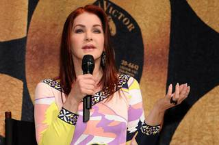 Priscilla Presley and Cirque du Soleil unveil Viva Elvis at Aria in CityCenter on Dec. 15, 2009.