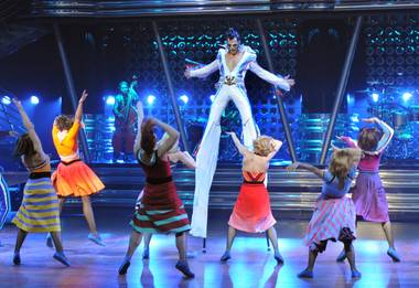 Cirque du Soleil gives a sneak preview of Viva Elvis at CityCenter's Aria Resort & Casino on Dec. 15, 2009.