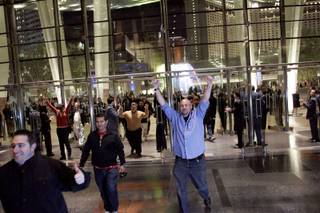 Guests enter the Aria hotel-casino for the first time Wednesday, Dec. 16, 2009.