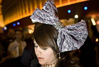 Alexandra Cannady arrives for Lady GaGa's concert at The Pearl at the Palms in Las Vegas on Thursday, Dec. 17, 2009.