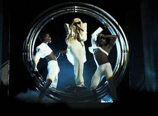 Lady Gaga performs the second concert in a two-night run at The Pearl in the Palms on Dec. 18, 2009.
