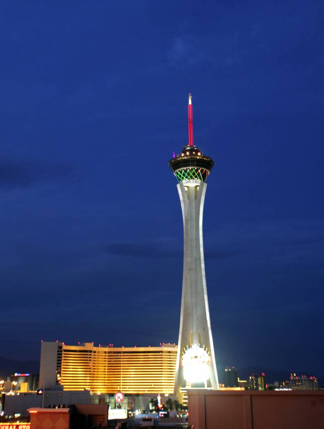 The Stratosphere is seen Monday, December 21, 2009.