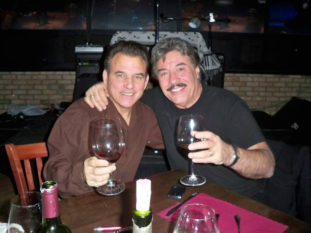 Tony Orlando, right, with Las Vegas Rocks Cafe founder Tony Sacca.