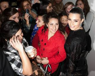 Kim Kardashian at Eve Nightclub inside CityCenter's Crystals on Dec. 30, 2009.