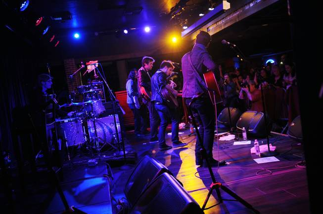 Kris Allen performs at B.B. King's Blues Club at The ...