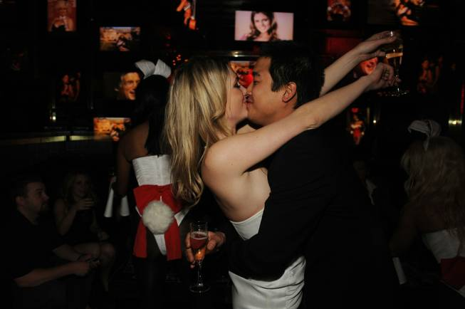 Andrea Lowell celebrates her wedding with a reception at The Playboy Club in the Palms on Dec. 30, 2009.