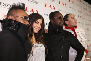 The Black Eyed Peas at LAX in the Luxor on New Year's Eve 2009.