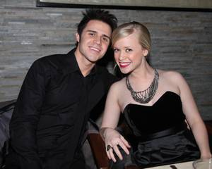 Kris Allen and his wife Katy at Simon in Palms Place on Dec. 31, 2009.