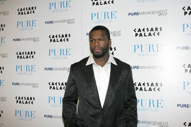 Rapper 50 Cent hosted at Pure nightclub at Caesars Palace on New Year's Eve, performing a 45-minute set of some of his most popular songs.