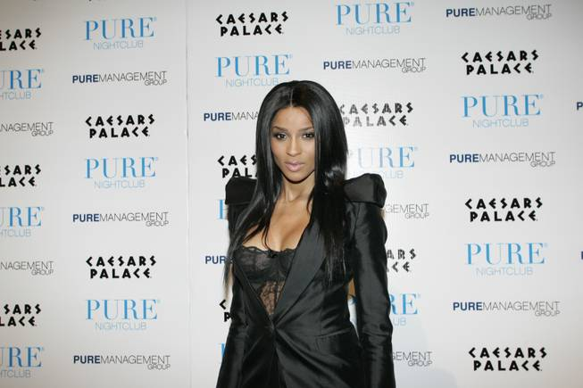 Singer Ciara ushered in the new year at Pure along with 50 Cent, Kenyon Martin of the Denver Nuggets and boxer Floyd Mayweather Jr.