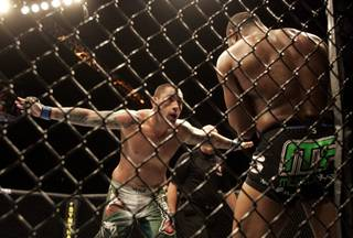 Thaigo Silva taunts Rashad Evans during the third round of their light heavyweight fight at UFC 108 on Saturday at the MGM Grand Garden Arena. Evans won a three-round unanimous decision over his Brazilian opponent to extend his record to 19-1-1.