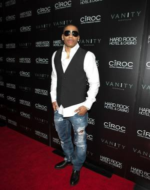 "Nelly at the grand opening of Vanity nightclub hosted by Sean ""Diddy"" Combs at the Hard Rock Hotel on Jan. 2, 2010."