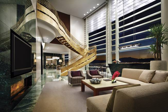 A view of Aria's Sky Villa penthouse.