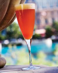 Available throughout the hotel, the Bellagio Cocktail mixes fresh passion fruit purée, Alizé red liqueur and Rotari sparkling wine.