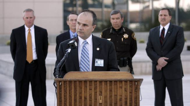 FBI special agent in charge Kevin Favreau speaks at a news conference outside the George Federal Building Tuesday, January 5, 2010 about the previous day's shoot out that killed a court security officer and the gunman and injured a deputy U.S. marshall.