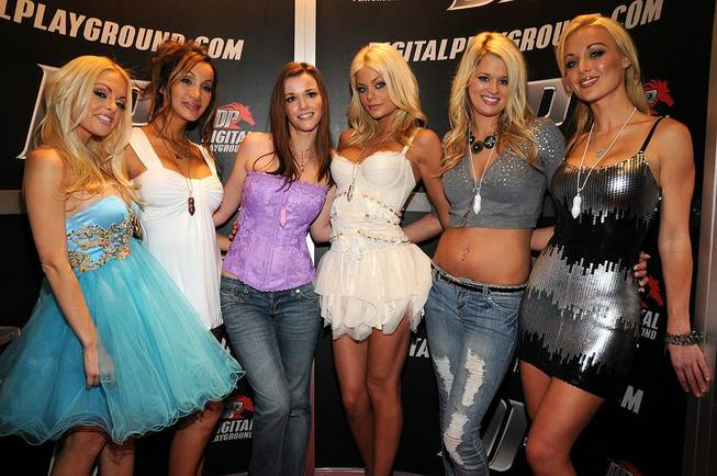 Jesse Jane, left, and the girls of Digital Playground.