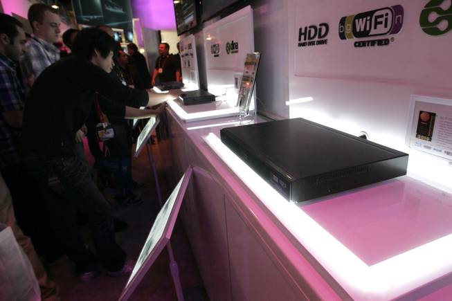 LG's BD590 is seen at CES Friday.
