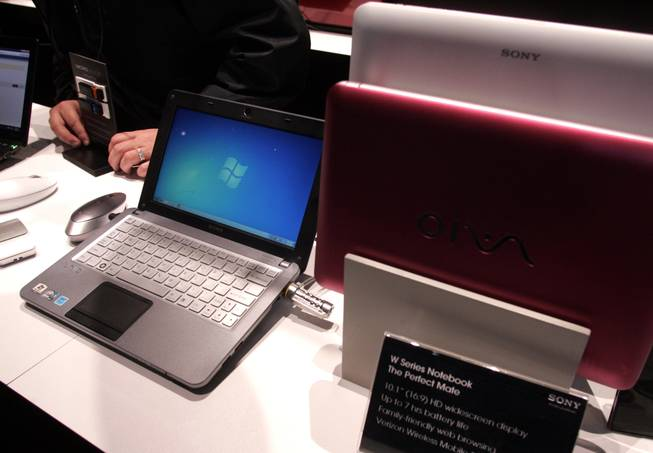 Sony's Vaio W series laptop is seen at CES Friday.