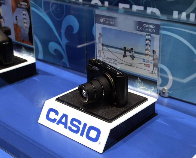 Casio's Exilim EX-FH100 camera is seen at CES Friday.