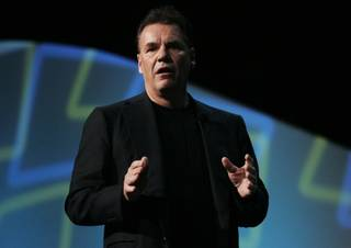 Nokia President and CEO Olli-Pekka Kallasvuo delivers  a keynote address during the annual CES Friday, January 8, 2009.