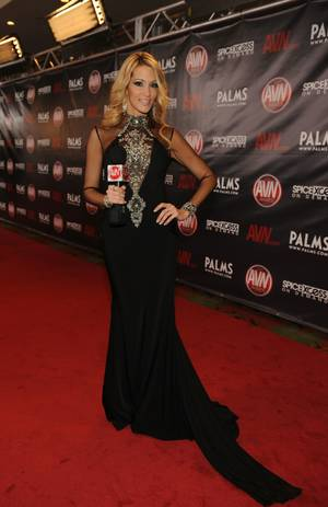 Jessica Drake, adult actress, and on this night, a reporter covering the Adult Video News Awards red carpet.
