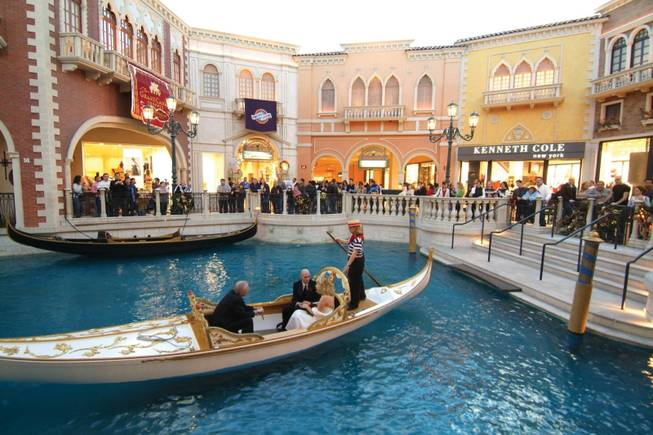 No, you can't rent jet skis to navigate the waters of the Venetian's Grand Canal.