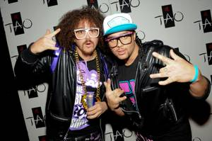 LMFAO arrive at Tao in The Venetian on Jan. 14, 2010.