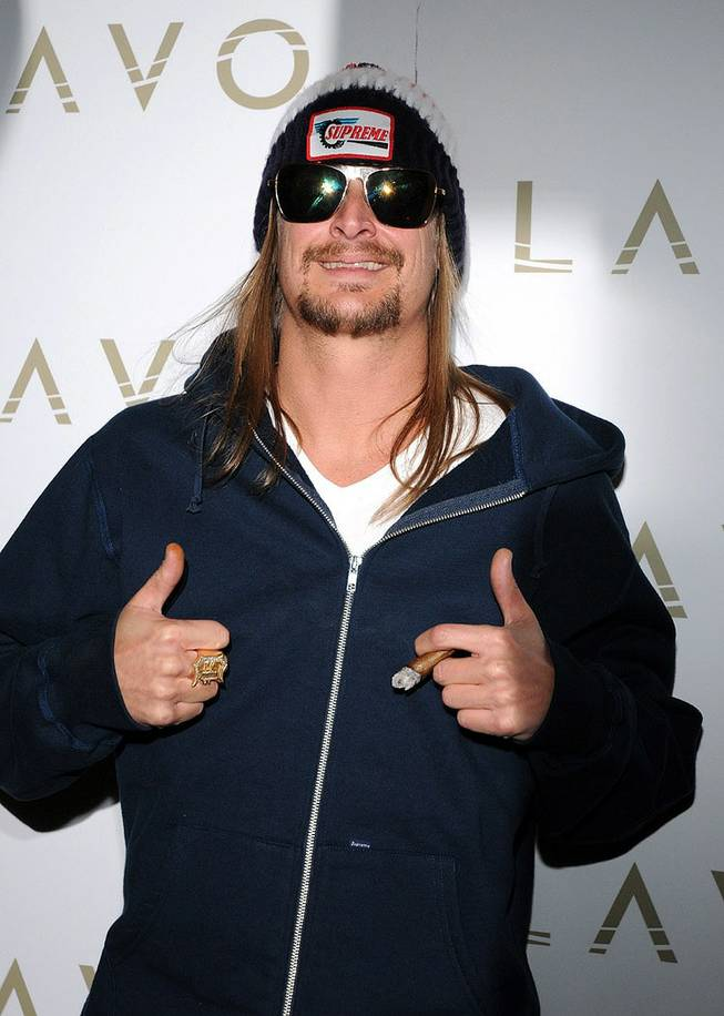 Kid Rock celebrates his 39th birthday at Lavo in the Palazzo on Jan. 17, 2010.