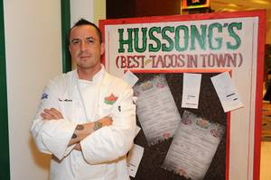 Chef Noe Alcala at the grand opening of Hussong's Cantina at the Mandalay Place on Jan. 21, 2010.