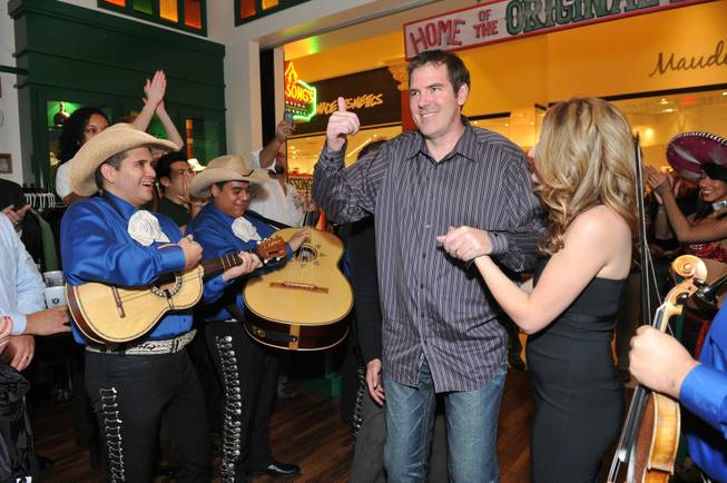 Scott Frost enters Hussong's Cantina at the Mandalay Place for ...