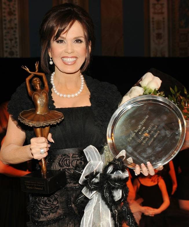 Marie Osmond, reaping the rewards for being named NBT Woman of the Year.