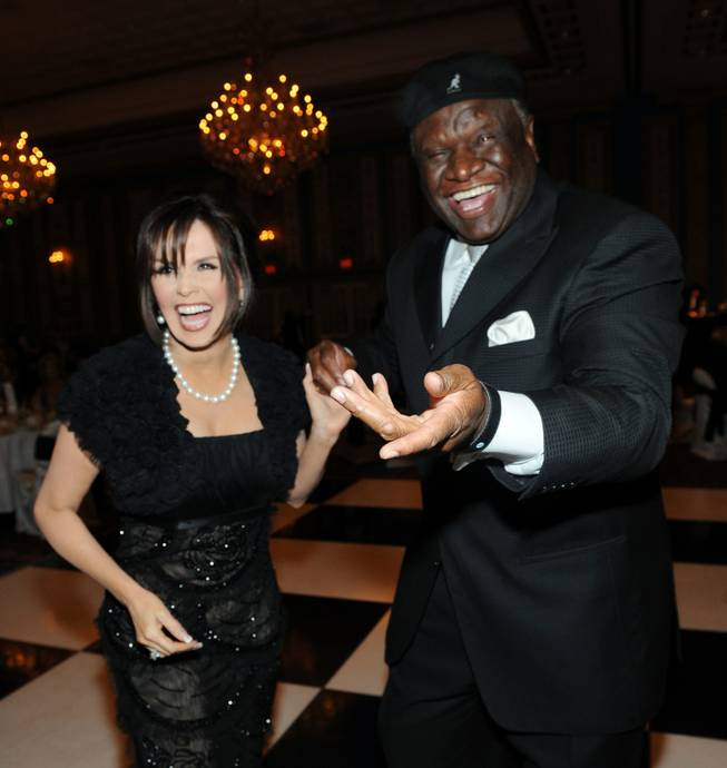Marie Osmond with a funny man, funnyman George Wallace.