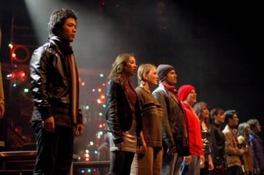 Opening night of Green Valley High School's production of Rent.