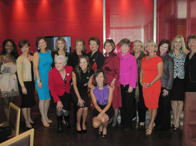Miss America Pageant winners gather for lunch at Neiman Marcus on Jan. 28, 2010.