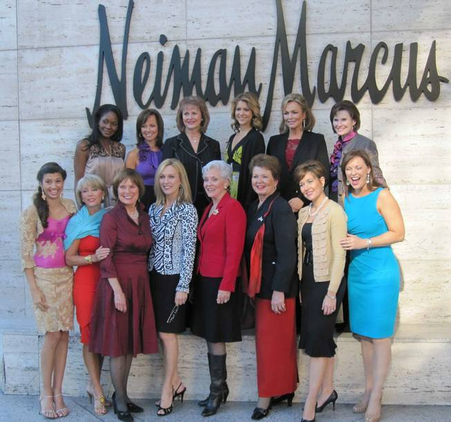 Miss America's Outstanding Teen 2010 Jeanette Morelan, front far left, joins Miss America Pageant winners for lunch at Neiman Marcus on Jan. 28, 2010.
