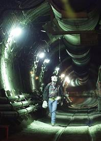 A tunnel inside Yucca Mountain is shown in 1999. The Obama administration announced Friday the formation of a panel to study nuclear waste disposal alternatives.