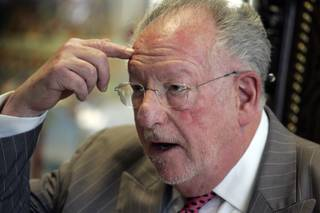 Mayor Oscar Goodman holds a press conference inside his downtown Las Vegas office Tuesday, February 2, 2010. Goodman was upset about the following statement made by President Obama: