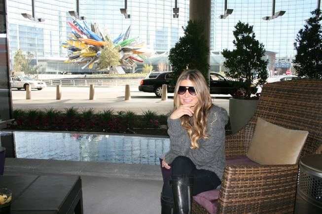 Carmen Electra at CityCenter's Vdara.