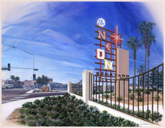 A rendering of the Neon Boneyard Park. The City of Las Vegas is expected to begin construction on the park on Feb. 8, 2010.