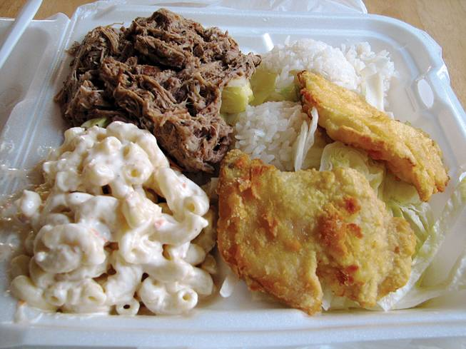 A hefty helping of Hawaiian food from Aloha A Go Go.