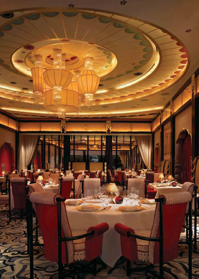 The dining room at Wing Lei.