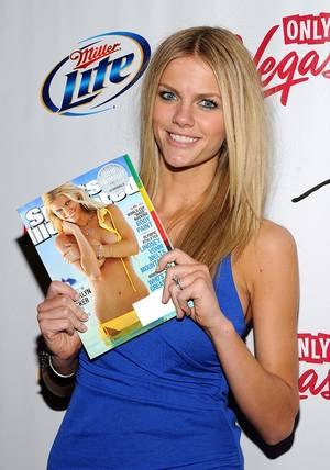 The 2010 <em>Sports Illustrated</em> swimsuit edition models at Jet in The Mirage on Feb. 10, 2010. 2010 cover girl Brooklyn Decker is pictured here.