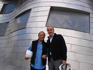 Paul Anka and Larry Ruvo at the Cleveland Clinic Lou Ruvo Center for Brain Health.